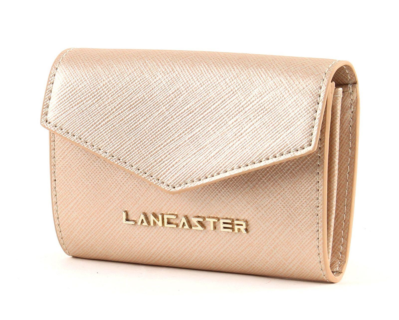LANCASTER Saffiano Signature Flap Wallet S Champagne