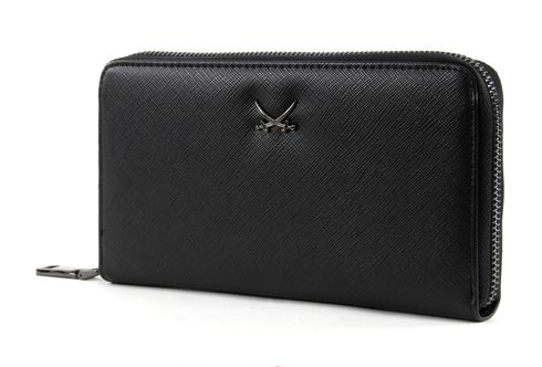 Sansibar Chic Zip Around Wallet Nero