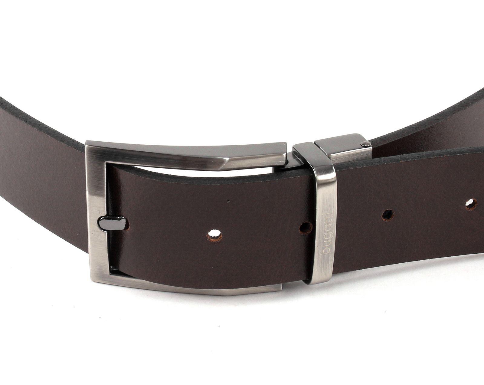 bugatti Reversible Belt W90 Black / Dark Brown