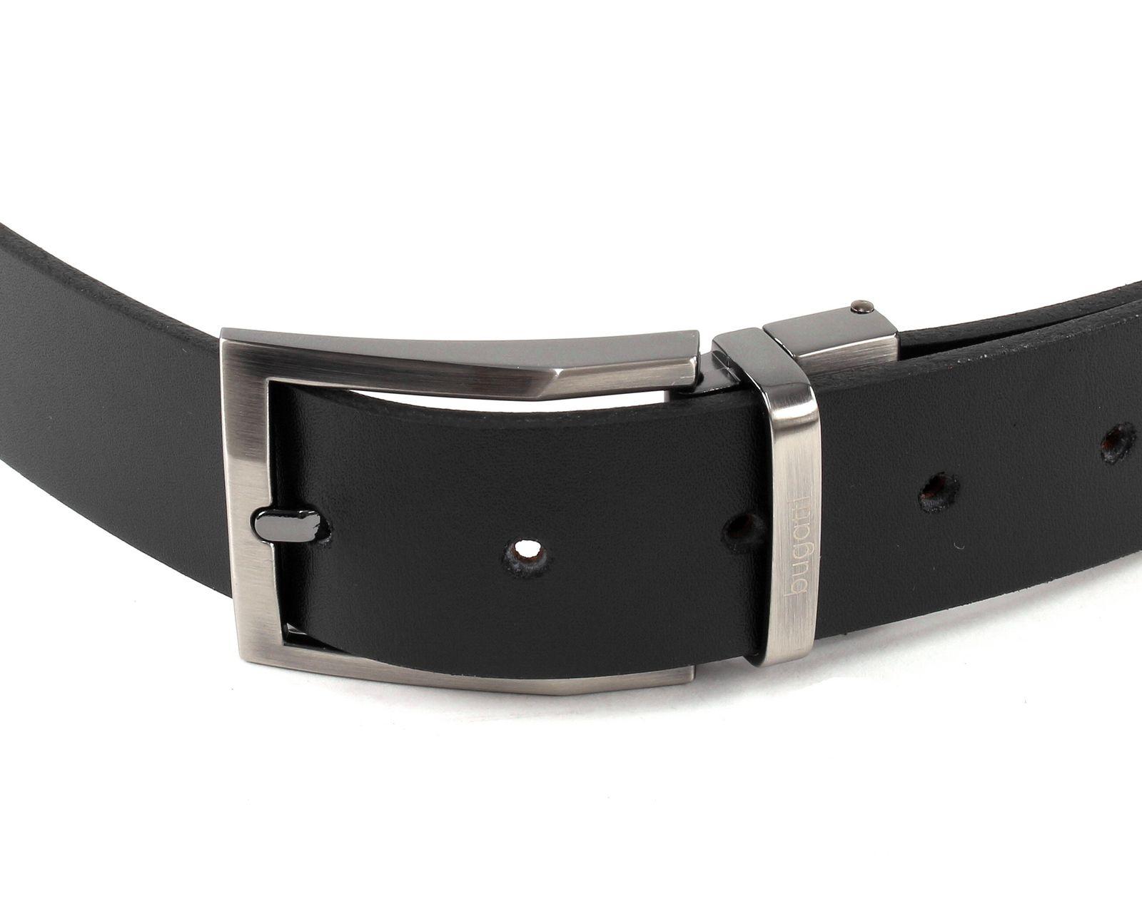 bugatti Reversible Belt W110 Black / Dark Brown