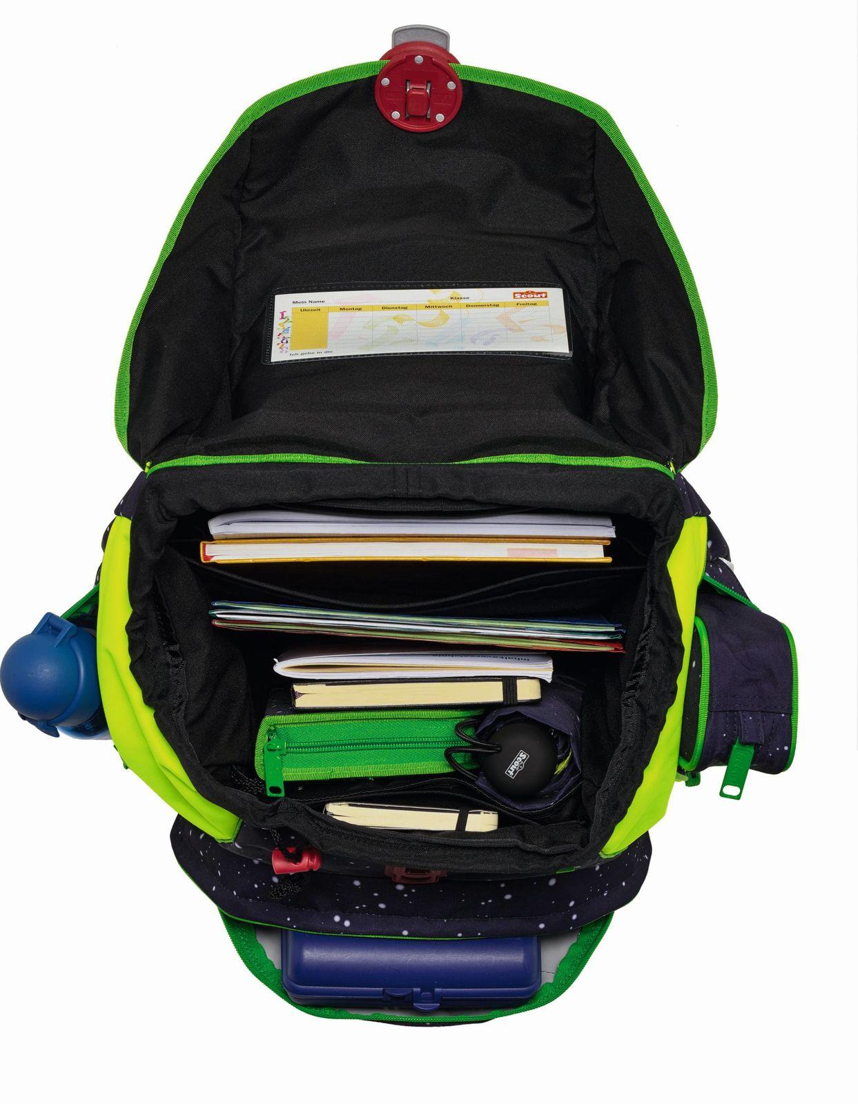 scout backpack sunny set 4 teilig space. Black Bedroom Furniture Sets. Home Design Ideas