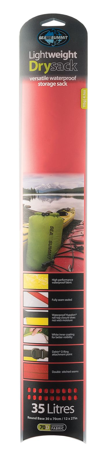 Sea To Summit Lightweight Dry Sack 35 L Red
