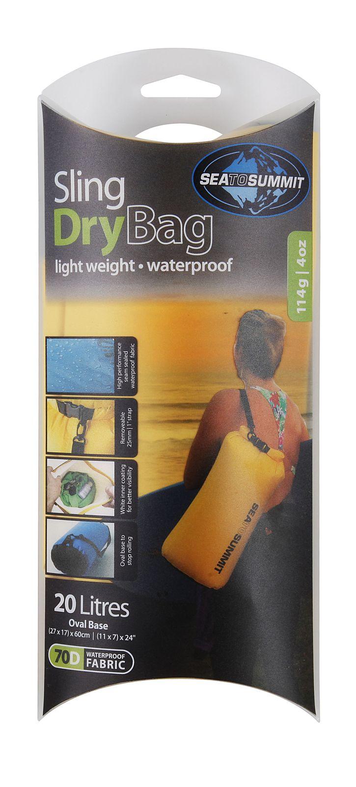Sea To Summit Lightweight Sling Dry Bag 20 L Yellow