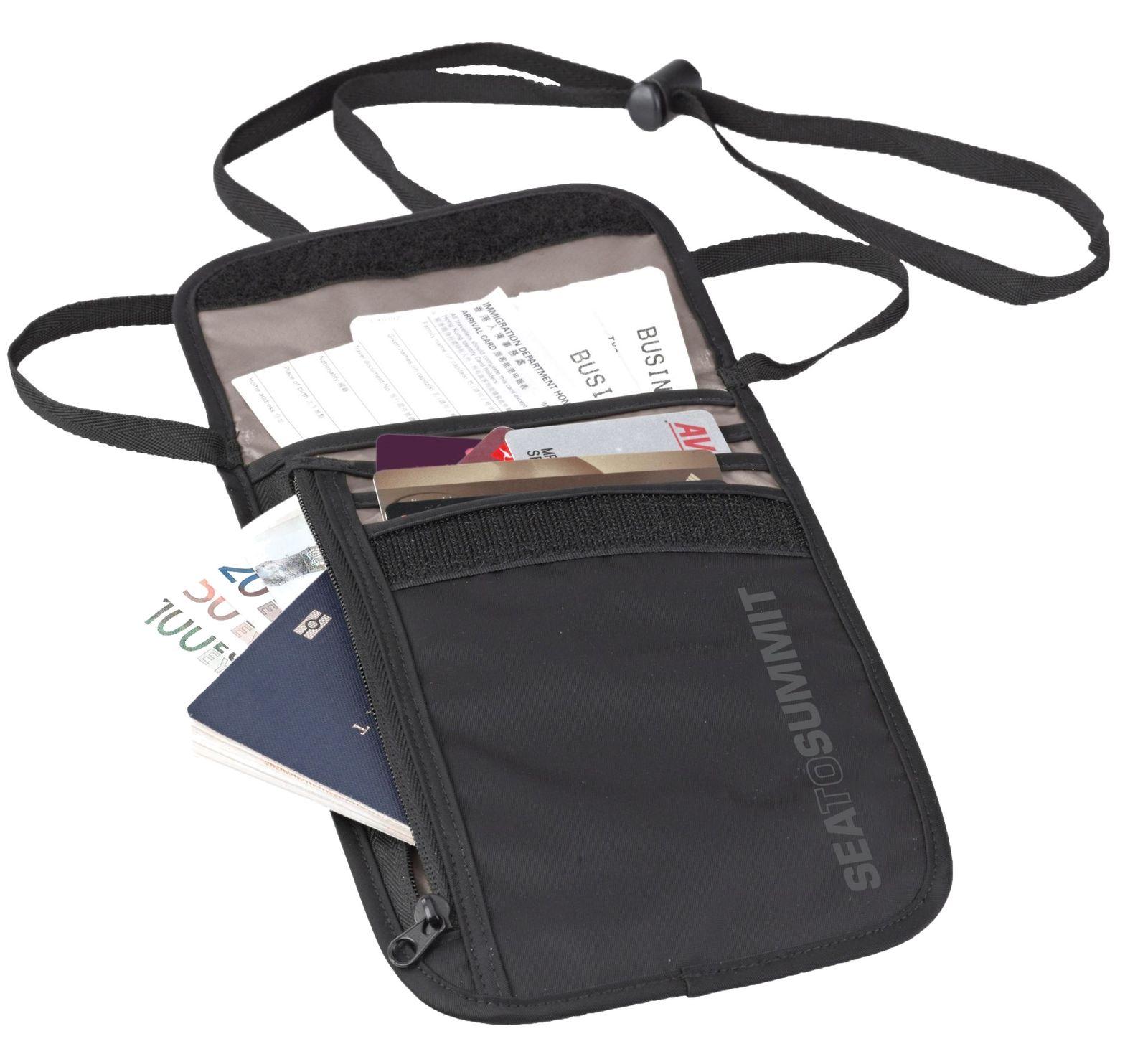 Sea To Summit TravellingLight Neck Wallet 5 Black / Grey