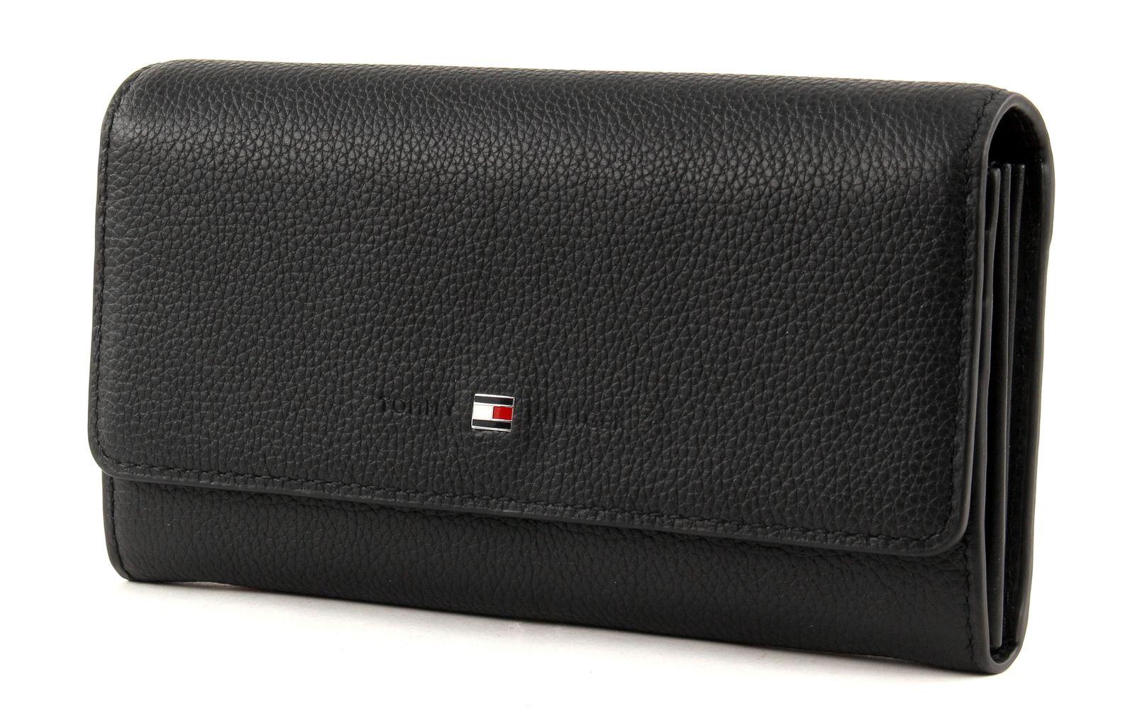 tommy hilfiger purse basic leather large e w wallet black. Black Bedroom Furniture Sets. Home Design Ideas