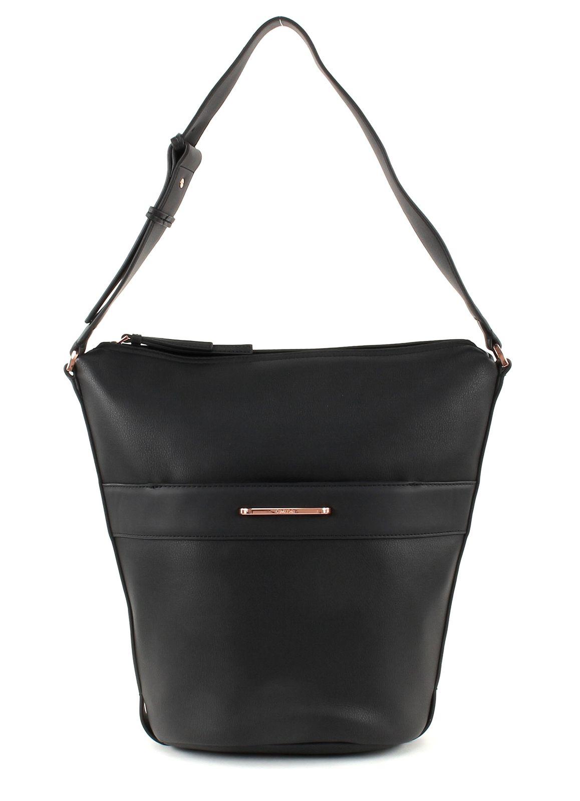 Calvin Klein Heath3r Elongated Bucket Bag Black