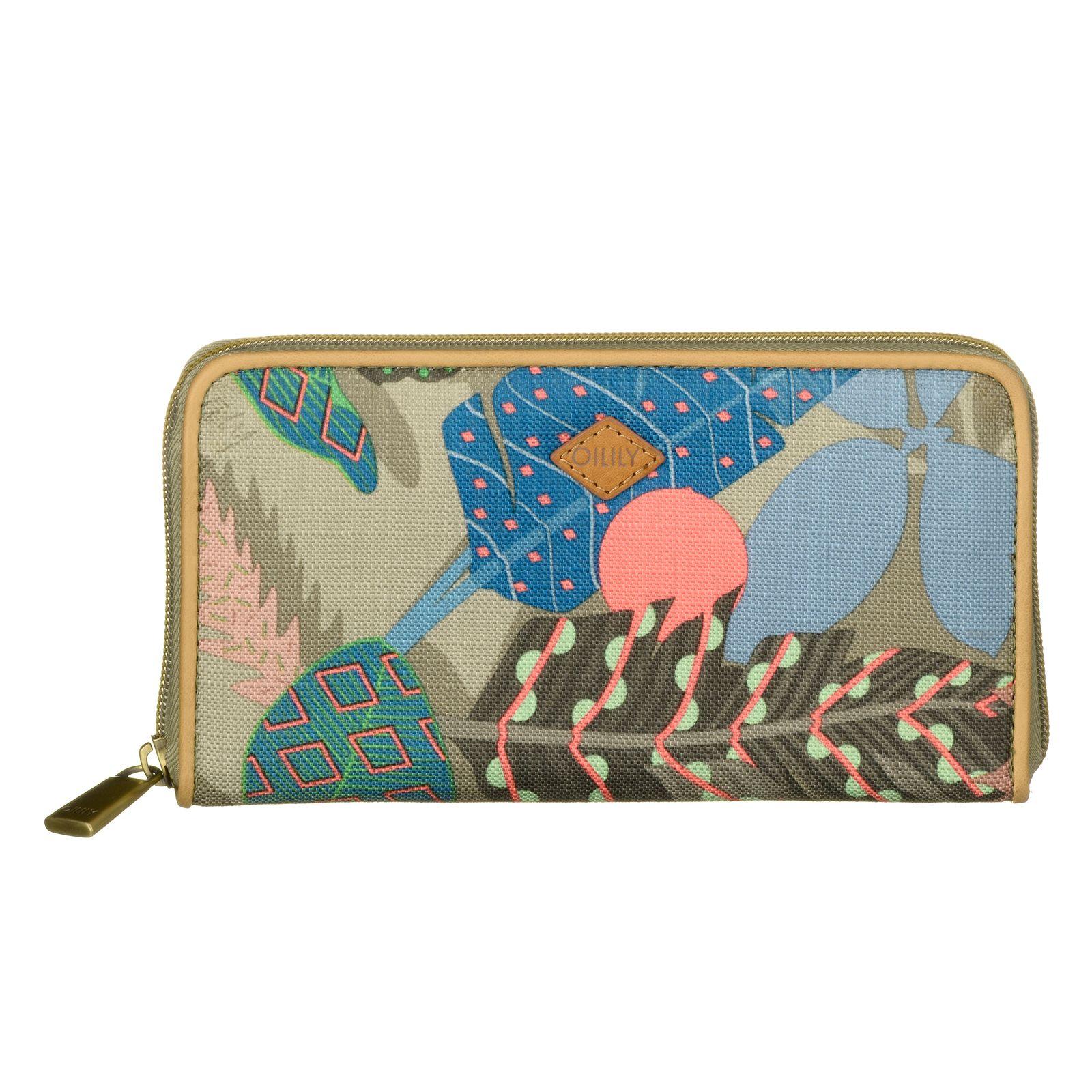 793950147519 Oilily Botanic Pop Zip Wallet L Nori Green