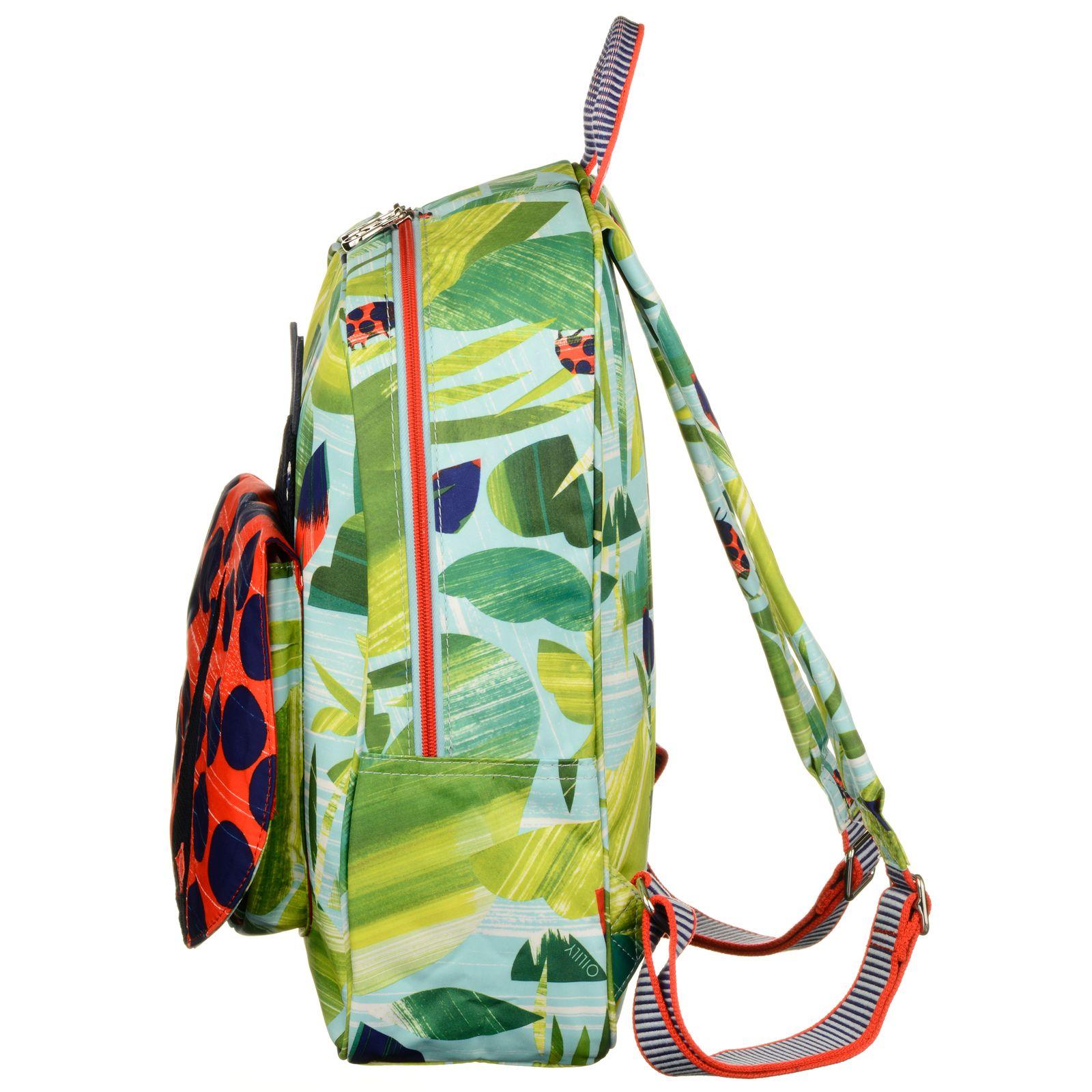 Oilily Nature Ladybug Backpack Leaf