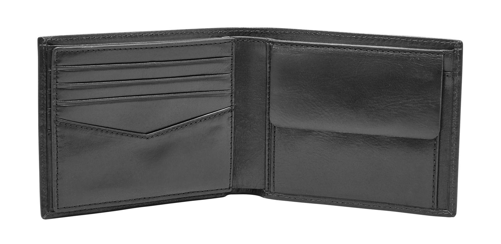 FOSSIL Ryan Large Coin Pocket Bifold Black