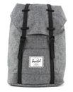 Herschel Retreat Backpack Raven Crosshatch / Black Rubber buy online at modeherz