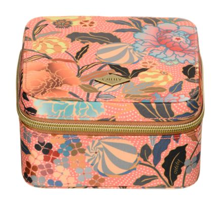 Oilily Ajisai Blossom Jewelry Case Shell Pink