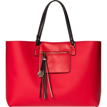 TOMMY HILFIGER Love Tommy Reversible Tote Heart Allover Heart Print / Fiery Red