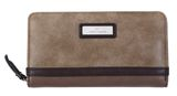 TOM TAILOR Elin Zip Around Wallet Taupe online kaufen bei modeherz