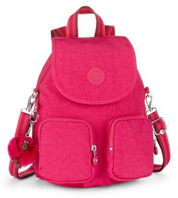kipling Eyes Wide Open Firefly Up Medium Backpack Cherry Pink C Pink