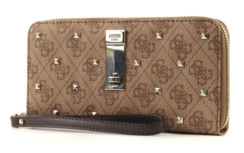 GUESS Nissana SLG Large Zip Around Brown
