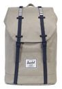 Herschel Retreat Backpack Light Khaki Crosshatch / Peacoat buy online at modeherz