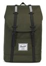 Herschel Retreat Backpack Forest Night / Black Rubber / White buy online at modeherz