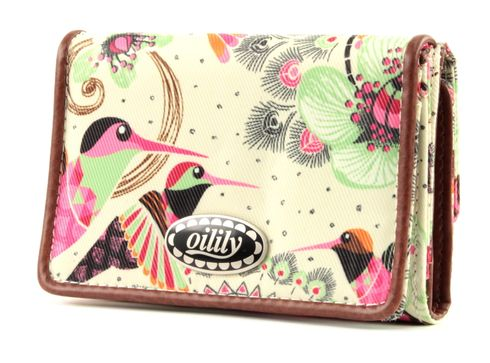 Oilily Tropical Birds Flap Wallet Off White