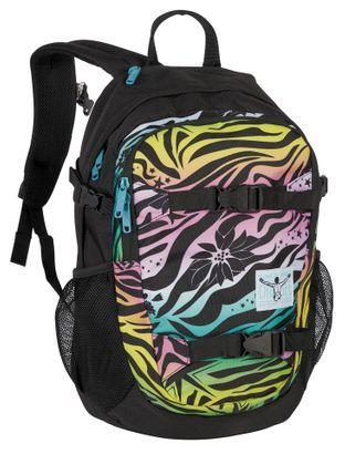 CHIEMSEE School Backpack Siggi Stardust Multi Schwarz / Rosa / Grün