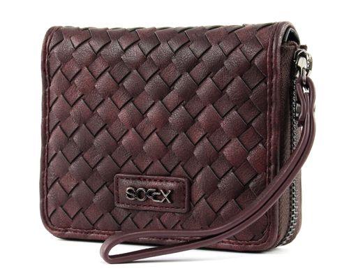 SOCCX Fennel Zipper Wallet Burgundy Rot