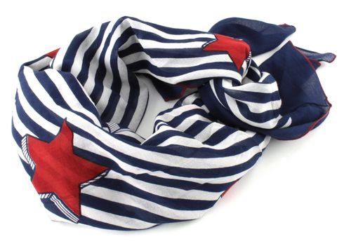 TOMMY HILFIGER Hilfiger Denim Print Scarf Corporate Colors Print