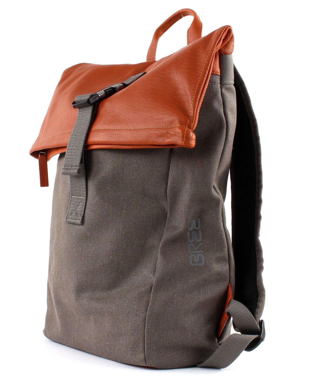 bree punch casual 93 backpack grey cognac. Black Bedroom Furniture Sets. Home Design Ideas