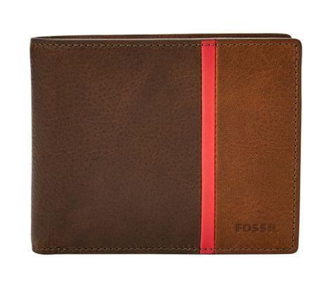 FOSSIL Keegan Large Coin Pocket Bifold RFID Brown Braun