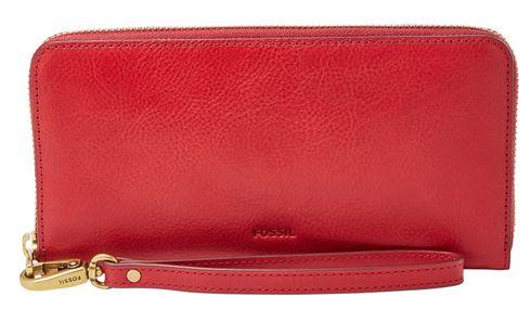 FOSSIL Emma Large Zip Clutch Red Velvet
