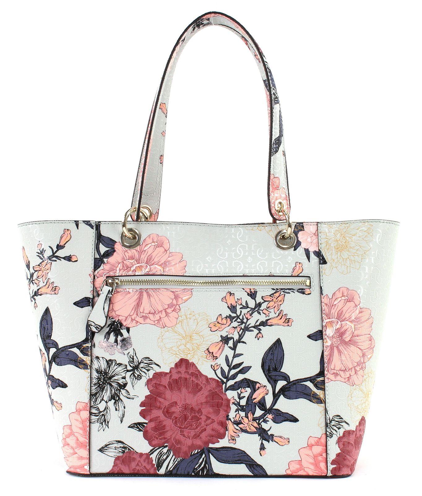 GUESS Shopper Bag Kamryn Tote Grey Floral | EBay