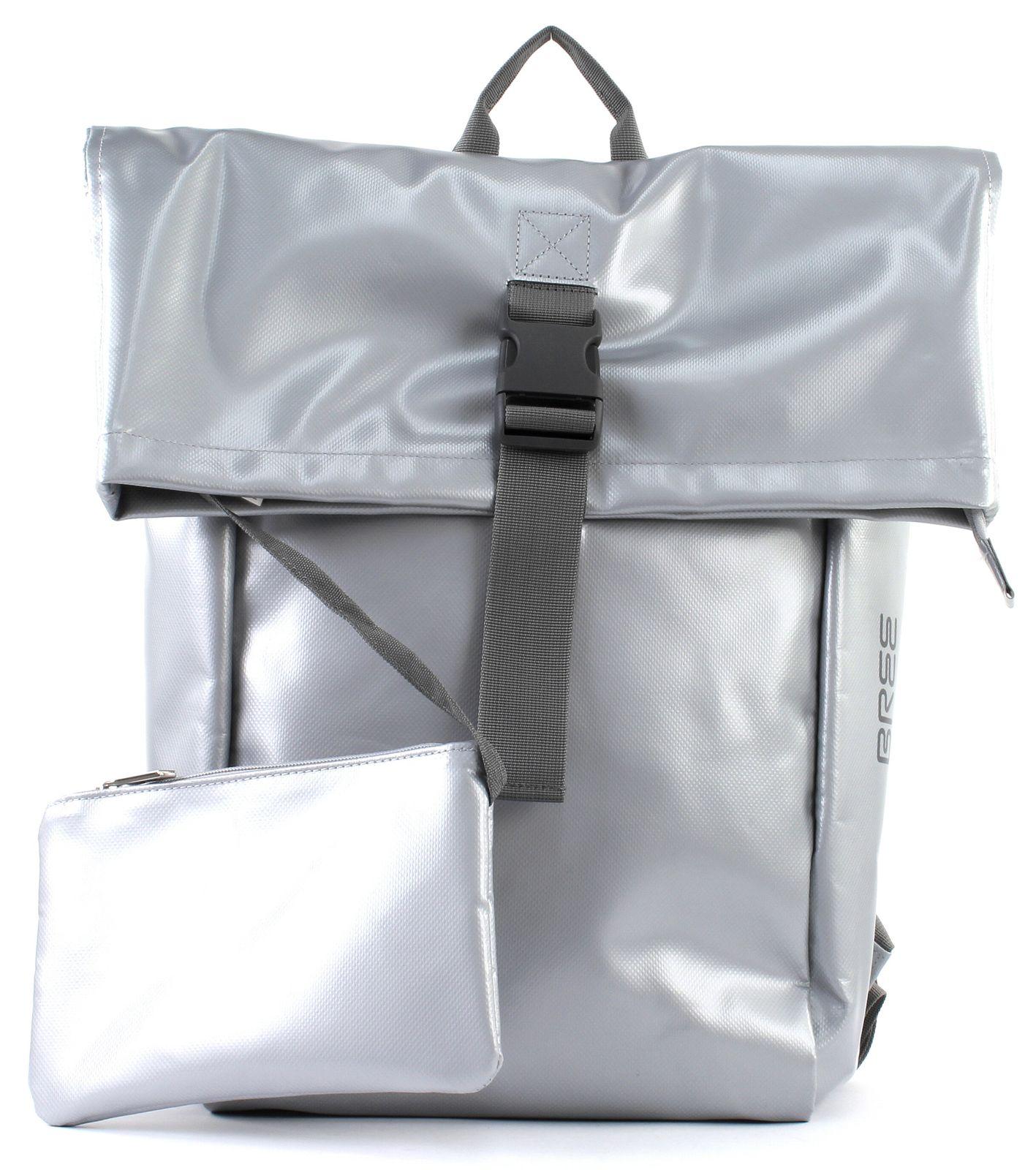 bree backpack punch 93 m shiny silver. Black Bedroom Furniture Sets. Home Design Ideas