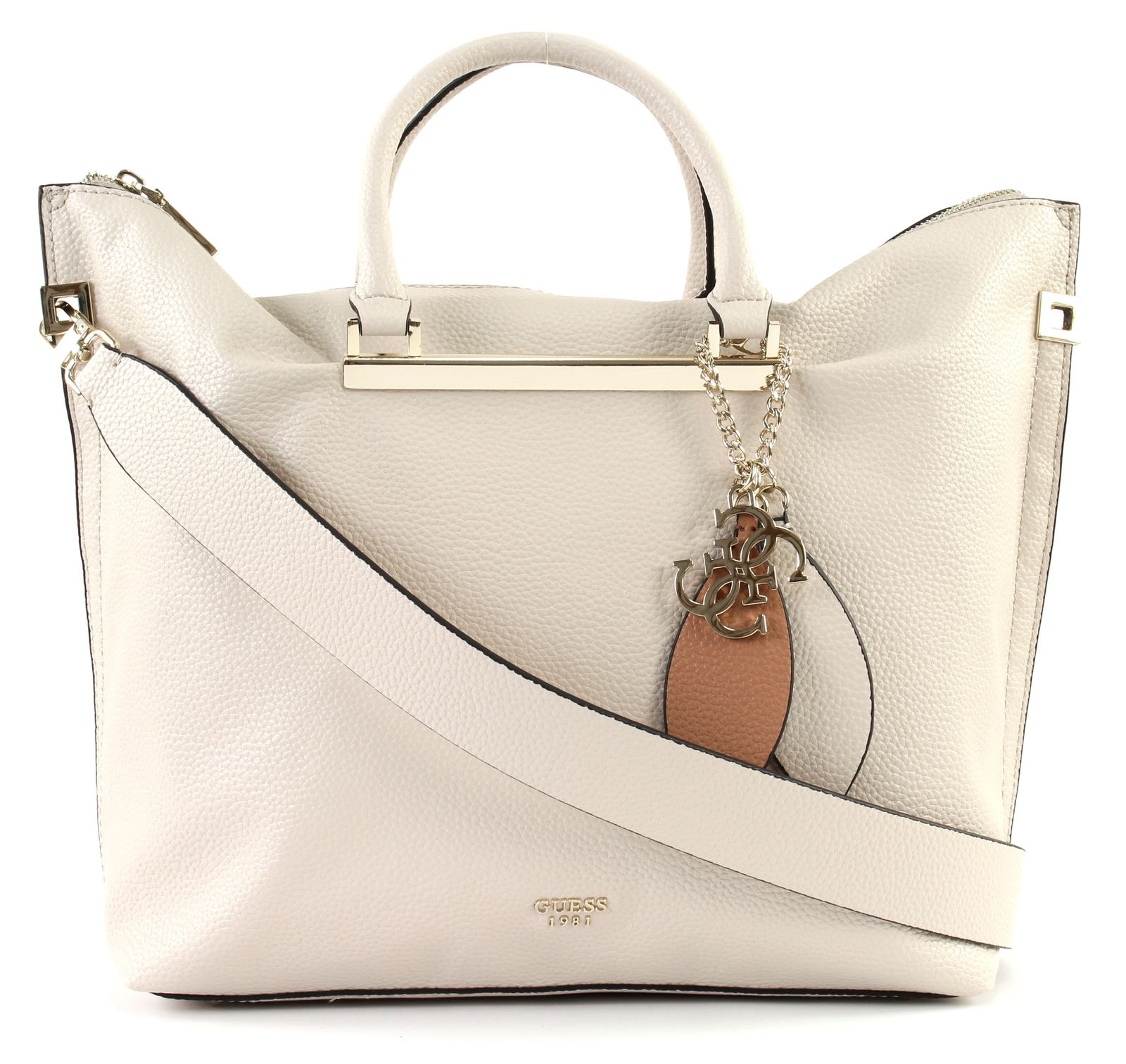 GUESS Lou Large Satchel Stone