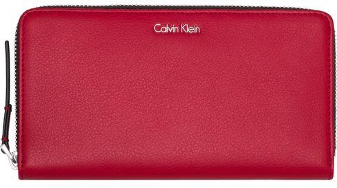 Calvin Klein Frame Large Zip Around Scarlet