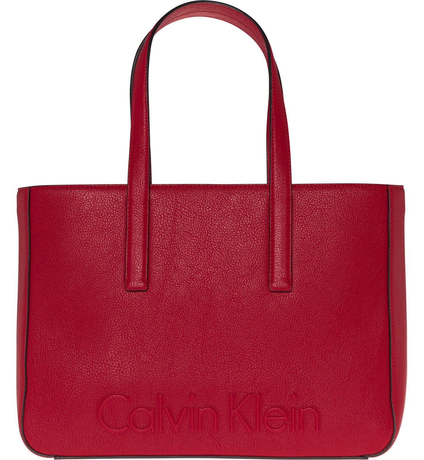 calvin klein edge medium shopper scarlet. Black Bedroom Furniture Sets. Home Design Ideas