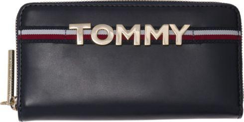 TOMMY HILFIGER Corporate Highlight Zip Around Wallet Tommy Navy Blau
