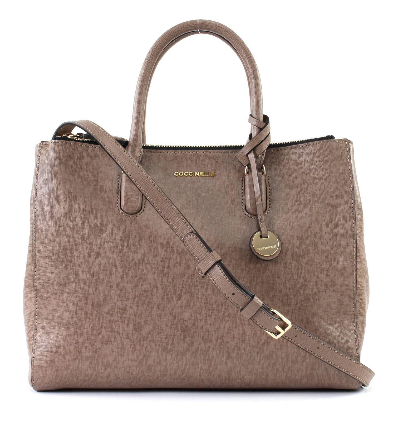e0c358757618f COCCINELLE Clementine Handbag Handtasche Umhängetasche Tasche Taupe ...