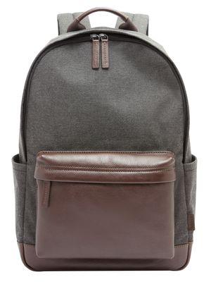 FOSSIL Buckner Backpack Black Grau / Braun
