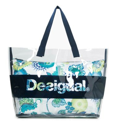 Desigual Luminescent Transparent Swim Shoulder Bag Midnight