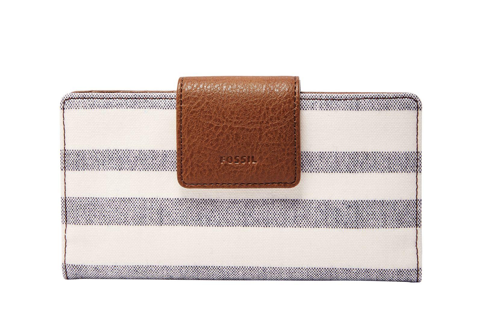 Online Shop FOSSIL Geldbörse EMMA RFID Tab Clutch GREY