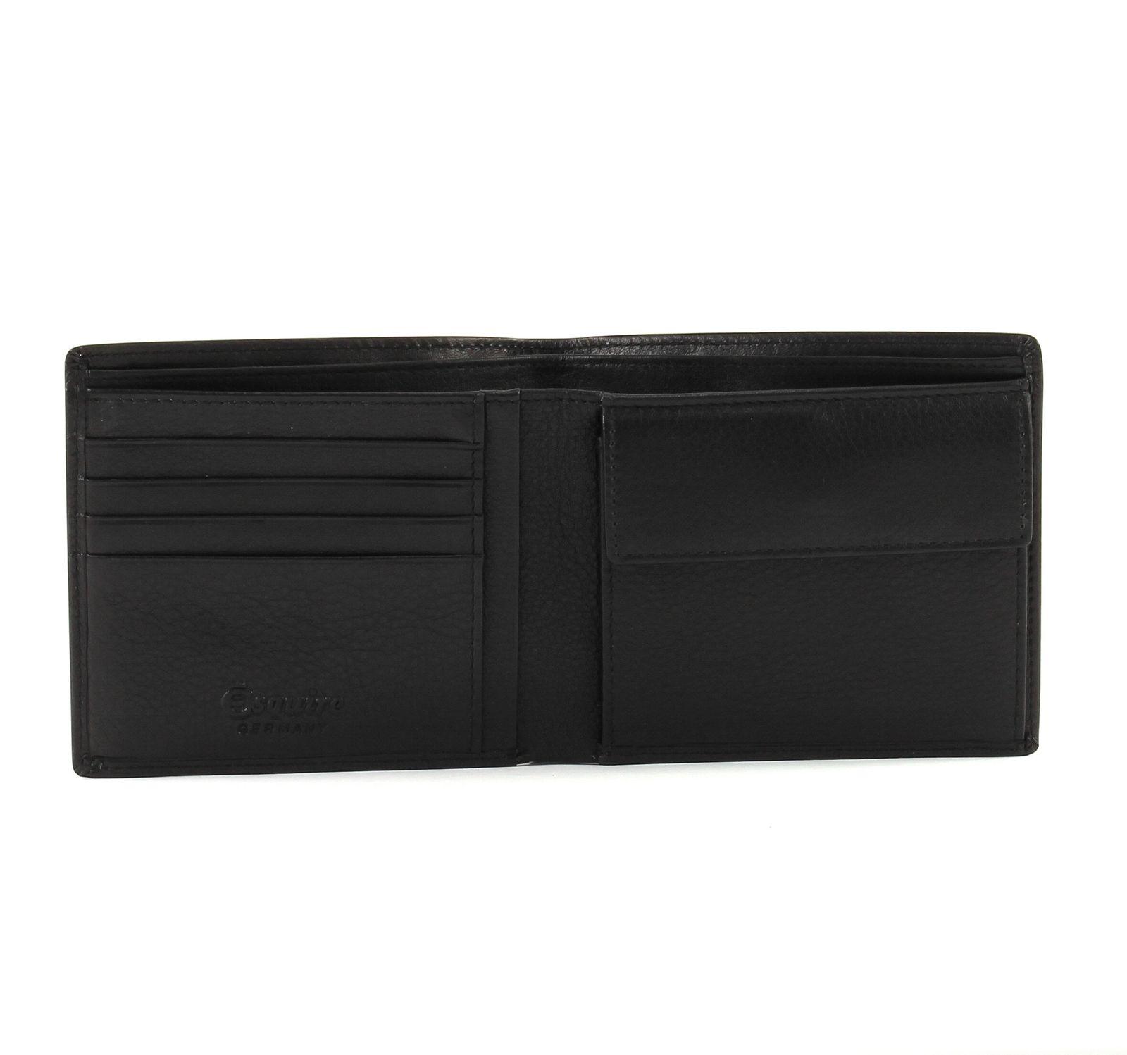 e9cfdb8237404 Esquire RFID Classic Wallet Geldbörse Black Schwarz Neu