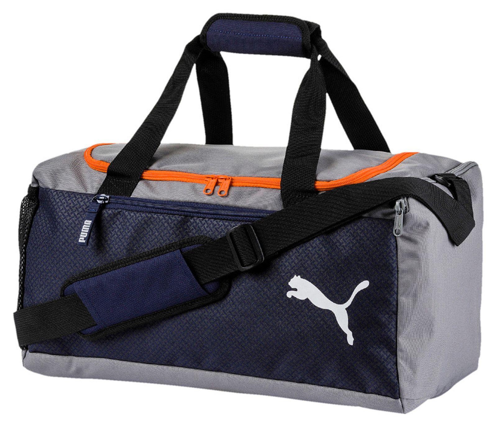 PUMA Fundamentals Sports Bag S Peacoat Firecracker