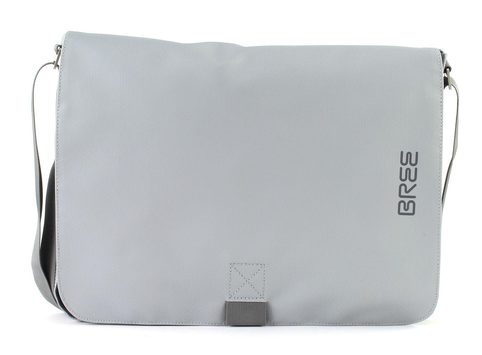 latest discount hot sale hot sale online Details zu BREE Punch 49 Messenger Bag Umhängetasche Laptoptasche Tasche  Chrome Silber