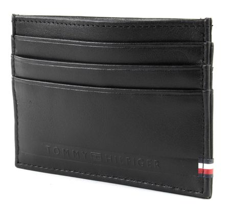TOMMY HILFIGER Selvedge Emboss CC Holder Black