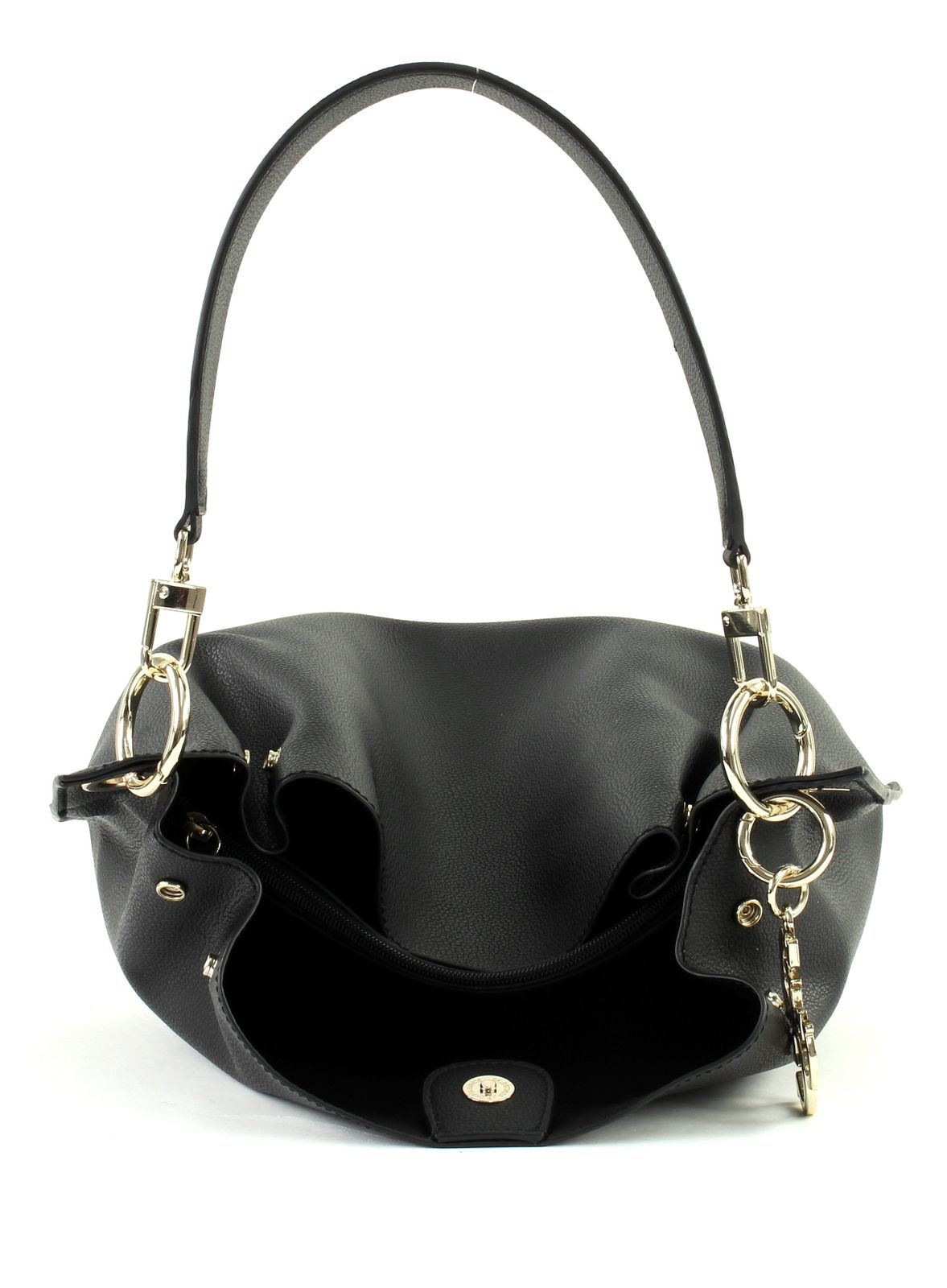 7bb0dd7b7c GUESS Sac À Bandoulière Digital Hobo Black | eBay