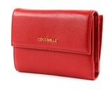 COCCINELLE Metallic Soft Flap Wallet Coquelicot buy online at modeherz