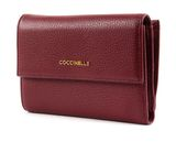 COCCINELLE Metallic Soft Flap Wallet Grape buy online at modeherz