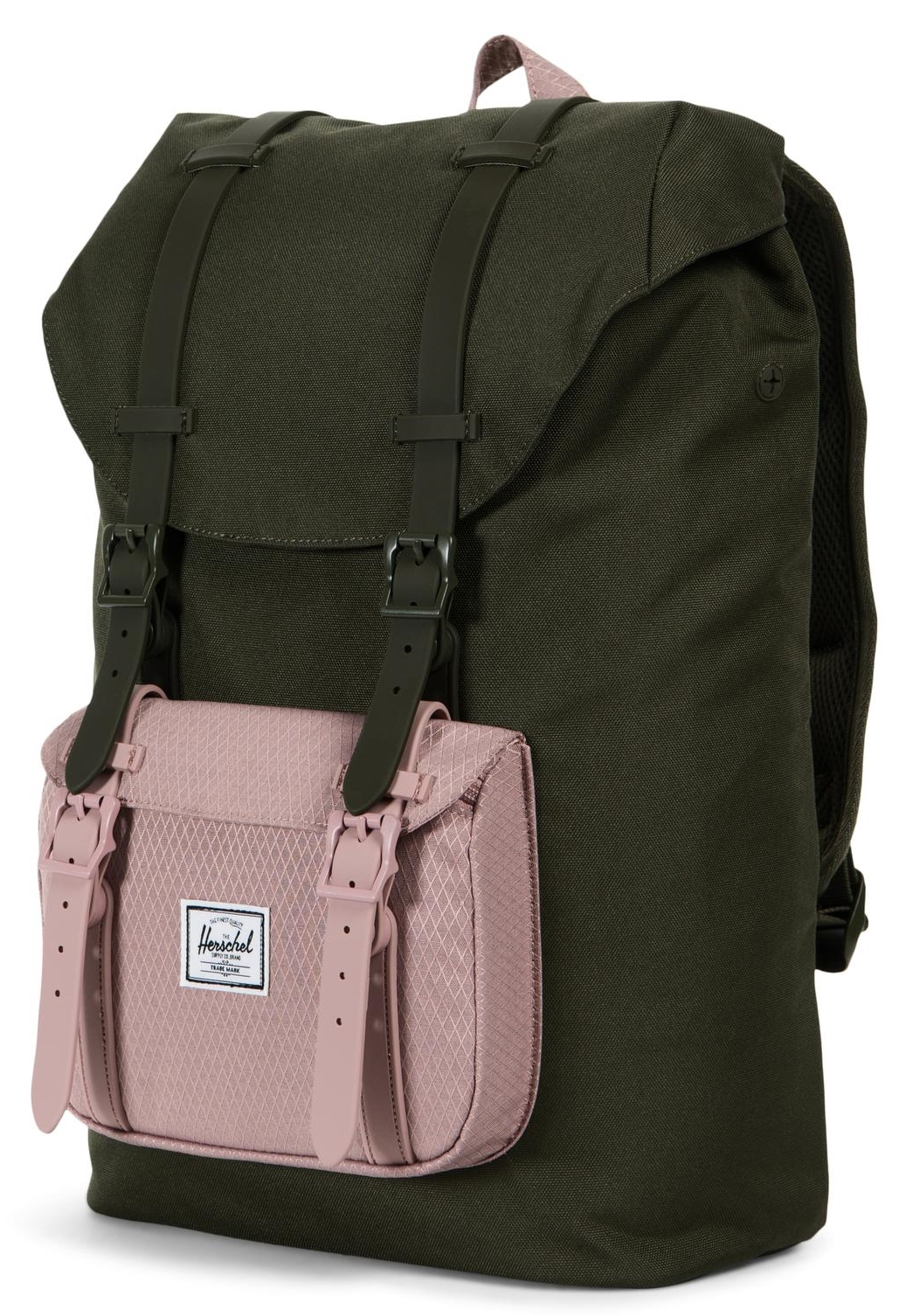 e020d4ef02b3e ... CloseHerschel Little America Mid-Volume Backpack Forest Night   Ash Rose    109