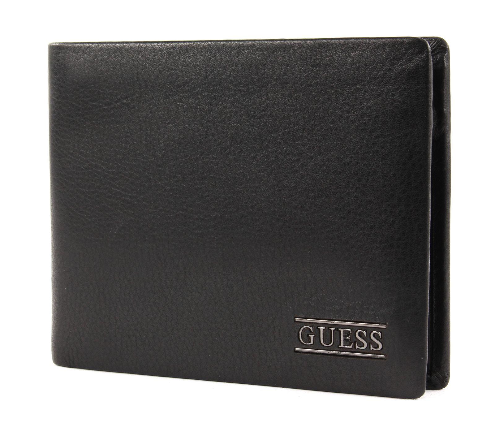 GUESS New Boston Billfold Coin Wallet Black