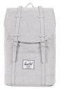 Herschel Retreat Backpack Light Grey Crosshatch / Grey Rubber online kaufen bei modeherz