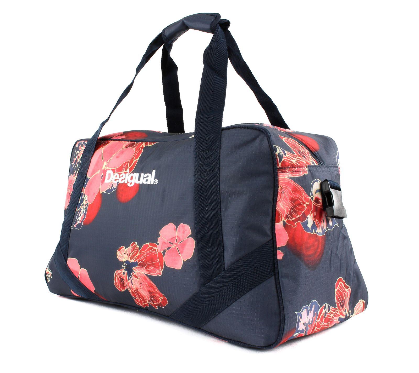 Desigual Scarlet Bloom Carry Shoulder Bag Sporttasche Tasche Peacoat