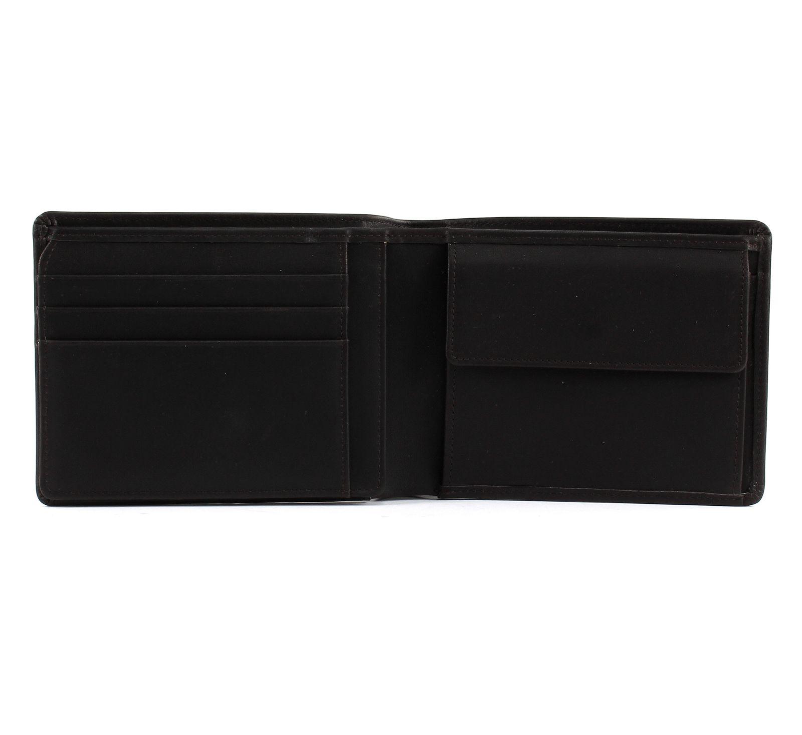 Details zu BREE Oxford SLG 114 Wallet Geldbörse Dark Brown Braun Neu